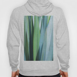 blue and green leaves Hoody
