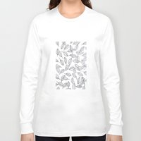 leaves Long Sleeve T-shirts featuring Leaves by Federico Faggion