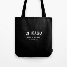 Chicago - IL, USA (Black Arc) Tote Bag