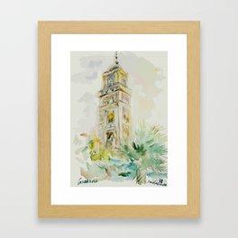 Casablanca's Belfry Framed Art Print