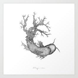 Koi Tree Art Print