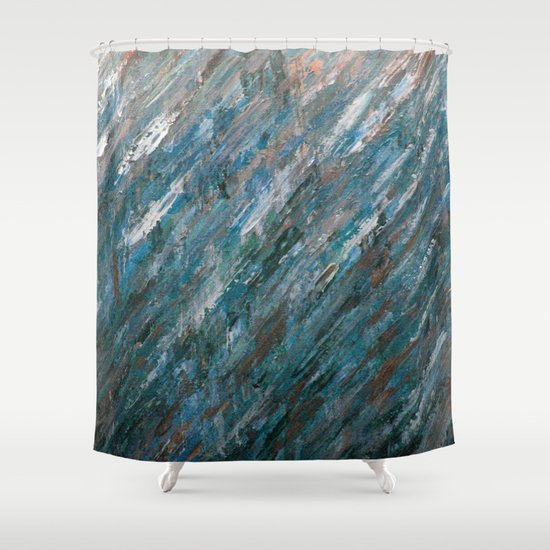 Brushed Aside Shower Curtain