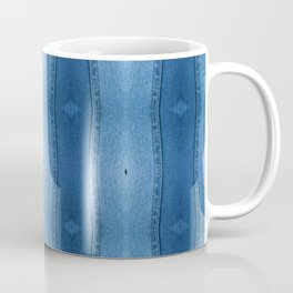 Denim Diamond Waves vertical patten Coffee Mug