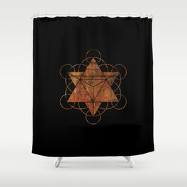 Seed of Life Merkaba Shower Curtain
