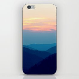 Sunset over the Great Smoky Mountains (Tennessee, USA) iPhone Skin