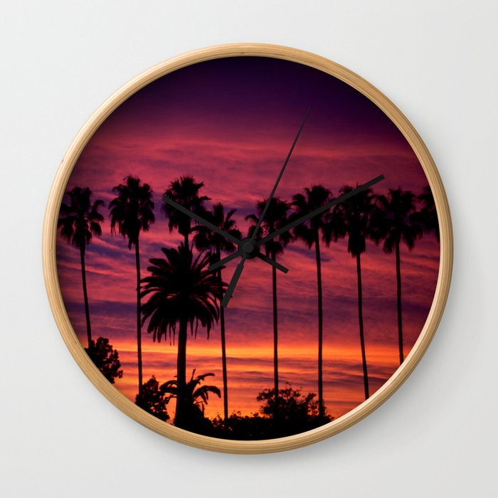 Sunset over Hollywood Wall Clock