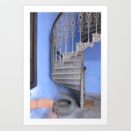 Blue Mansion in Penang, Malaysia (2013b) Art Print
