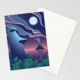 Moai Moon, Tiki Stationery Cards