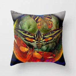Butterfly Effect Blue Planet Throw Pillow