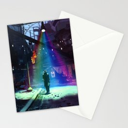 Space Ship in Fallout Video game Stationery Cards