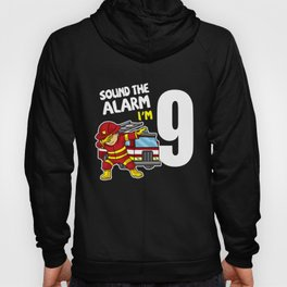 8th Dabbing Firefighter Fire Truck 9 Years Old Hoody