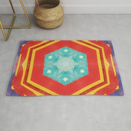 circle hexagon cirque Rug