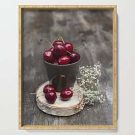 Cherries Serving Tray