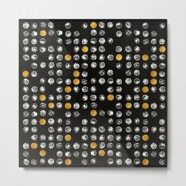 Full Moon Gold Binary Pattern Metal Print