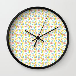 Ditsy Party Confetti Sprinkles Wall Clock