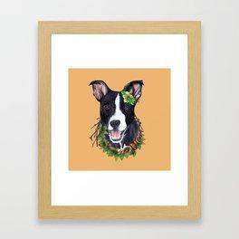 Flower dog Framed Art Print
