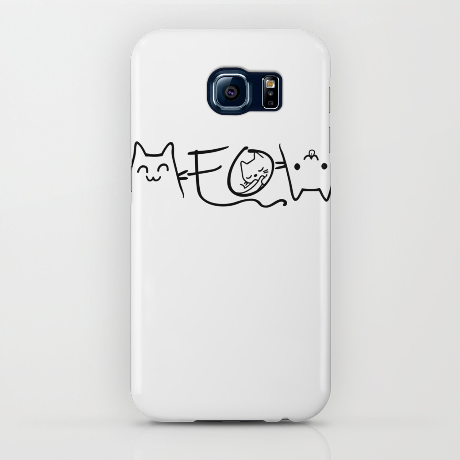 Meow Cute Cat Face Funny Costume Product For Kawaii Girls Iphone Case