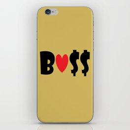 Boss (gold) iPhone Skin