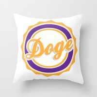 doge Throw Pillows featuring Doge by Tasha-Nova