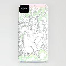 garden & antlers iPhone (4, 4s) Slim Case