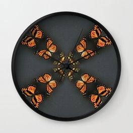 Butterfly Symmetry Wall Clock