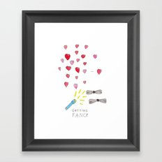 GETTING FANCY! Framed Art Print