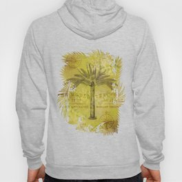 Vintage Journey palmtree typography travel collage Hoody