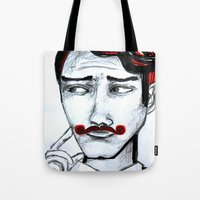 gentleman Tote Bags featuring gentleman by sladja