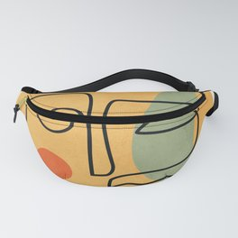Abstract Face 20 Fanny Pack