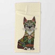 pixiebob kitten cream Beach Towel