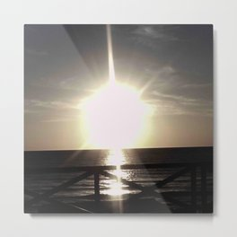 Oceanic landscape: Lacanau  8 Metal Print