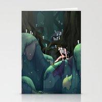 princess mononoke Stationery Cards featuring Princess Mononoke by IllustrateKate