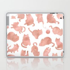 Cat Pattern Rose Gold Kitty Cats Laptop & iPad Skin