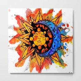 Sun and Stars Metal Print