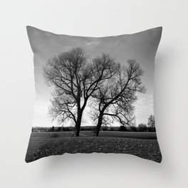 Concept nature : Two tree´s Throw Pillow