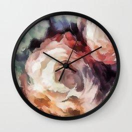 Roses of autumn. Wall Clock