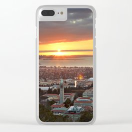 View of San Francisco Bay Area at Sunset from UC Berkeley Clear iPhone Case