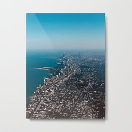Soaring over Chicago Metal Print