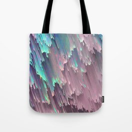 Iridescent Shadows Glitches Tote Bag