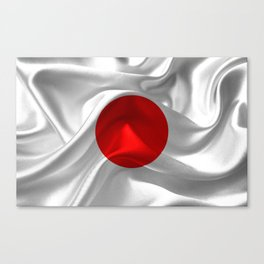 Satin flag of Japan Canvas Print