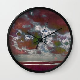 Pink Seas and Clouds Wall Clock