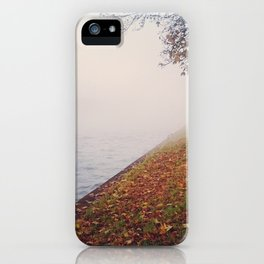 Foggy autumn iPhone Case
