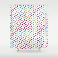 funky Shower Curtains featuring funky triangles by haroulita