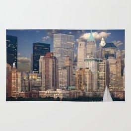 Picturesque New York City Skyline Rug