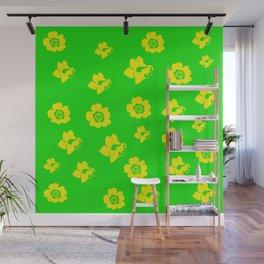 Daffodil/Primrose Spring style image Wall Mural