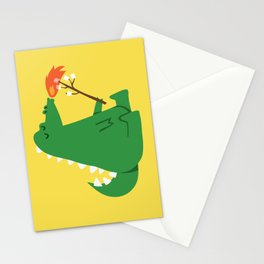 Dragon and Marshmallow Stationery Cards
