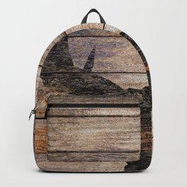 Rustic Black Moose Silhouette A424b Backpack