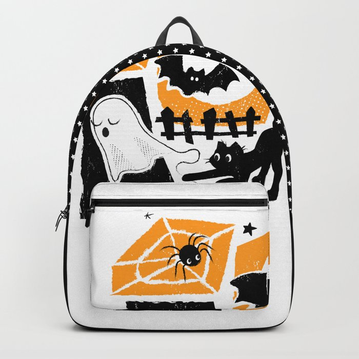 Beware of the Cat on Halloween Backpack