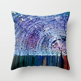 Rings in Blue Throw Pillow