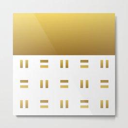 Modern geometric background gold #society6 #decor #buyart #artprint Metal Print